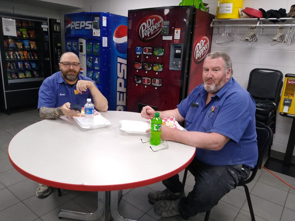 Robroy Enclosures employee lunch to recognize staff during COVID-19 pandemic.