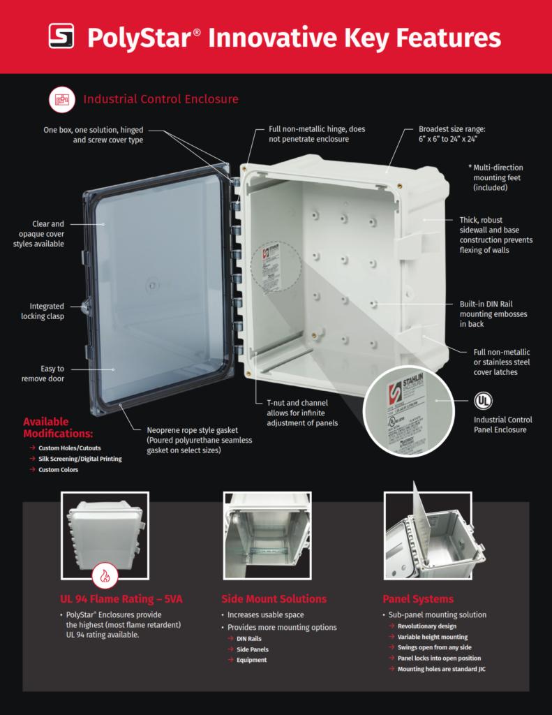 NEMA 4X Polycarbonate Enclosure Features and Benefits